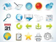 Conjunto del icono del Web Imagenes de archivo