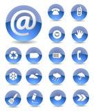 Conjunto del icono del Web Imagen de archivo