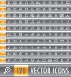 Conjunto del icono del Web del vector Fotos de archivo libres de regalías
