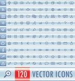 Conjunto del icono del Web del vector Foto de archivo libre de regalías