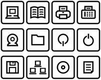 Conjunto del icono del Web del vector Fotos de archivo