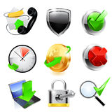 Conjunto del icono del Web Vector Fotografía de archivo libre de regalías