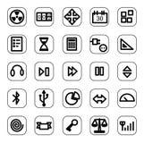 Conjunto del icono del Web y de los media Fotografía de archivo libre de regalías