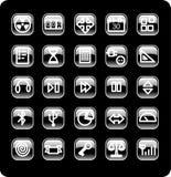 Conjunto del icono del Web y de los media Foto de archivo libre de regalías