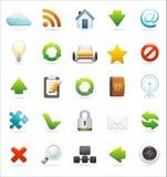 Conjunto del icono del Web y del Internet Fotos de archivo