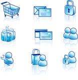 Conjunto del icono del Web y del Internet Foto de archivo libre de regalías