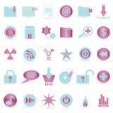 Conjunto del icono del WEB y del vector del símbolo Fotografía de archivo