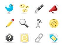 Conjunto del icono | Media sociales Imagenes de archivo