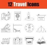 Conjunto del icono del recorrido ilustración del vector