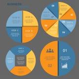 Conjunto del infographics del vector Imágenes de archivo libres de regalías