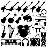 Conjunto del instrumento de música Foto de archivo libre de regalías