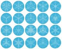 Conjunto del invierno del copo de nieve stock de ilustración