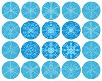 Conjunto del invierno del copo de nieve libre illustration