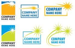 Conjunto del logotipo de la estrella Imágenes de archivo libres de regalías