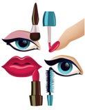 Conjunto del maquillaje