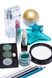 Conjunto del maquillaje Fotografía de archivo libre de regalías
