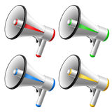 Conjunto del megáfono ilustración del vector