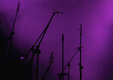 Conjunto del micrófono Foto de archivo