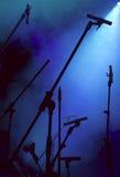 Conjunto del micrófono Fotografía de archivo