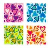Conjunto del modelo de los corazones del día de tarjetas del día de San Valentín. Imagen de archivo