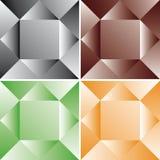 Conjunto del modelo de los cubos Foto de archivo