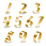 Conjunto del número de la cinta Fotografía de archivo libre de regalías