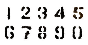 Conjunto del número negro Imagen de archivo