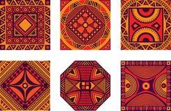 Conjunto del ornamento africano Imagen de archivo
