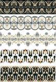 Conjunto del ornamento del griego clásico para el diseño Imagenes de archivo
