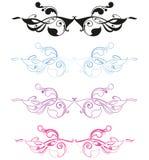 Conjunto del ornamento del nouveau del arte libre illustration