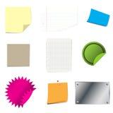 Conjunto del papel de la etiqueta engomada Fotografía de archivo libre de regalías
