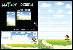 Conjunto del papel del diseño de la naturaleza Foto de archivo libre de regalías