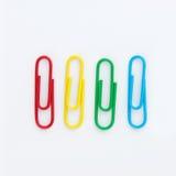Conjunto del paperclip colorido Imagen de archivo libre de regalías