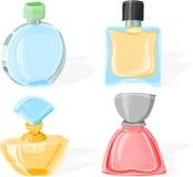 Conjunto del perfume Fotografía de archivo libre de regalías