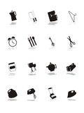Conjunto del pictograma de las compras Fotografía de archivo