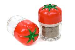 Conjunto del plástico de sal y de pimienta Foto de archivo libre de regalías