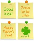 Conjunto del post-it del día de St Patrick s Imagen de archivo libre de regalías