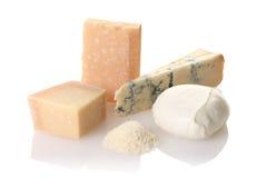 Conjunto del queso Fotografía de archivo