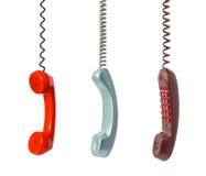 Conjunto del receptor de teléfono Fotografía de archivo libre de regalías