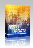 Conjunto del rectángulo de la pantalla del chapoteo de las noticias Fotos de archivo libres de regalías