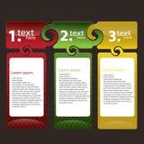Conjunto del rectángulo de texto colorido Fotografía de archivo libre de regalías