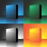 Conjunto del rectángulo del vector Imágenes de archivo libres de regalías