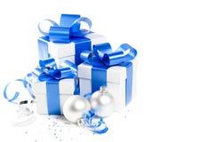 Conjunto del regalo de la Navidad Fotografía de archivo libre de regalías
