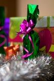 Conjunto del regalo de la Navidad Imagen de archivo
