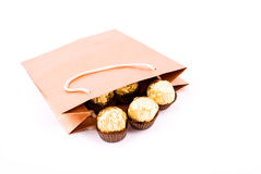 Conjunto del regalo del chocolate Imagenes de archivo