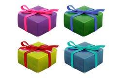 Conjunto del regalo en blanco Imagen de archivo