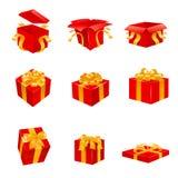 Conjunto del regalo Vector Imagen de archivo libre de regalías
