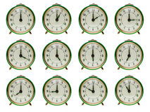 Conjunto del reloj de alarma foto de archivo