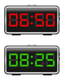 Conjunto del reloj de alarma de Digitaces libre illustration