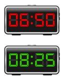 Conjunto del reloj de alarma de Digitaces Fotografía de archivo